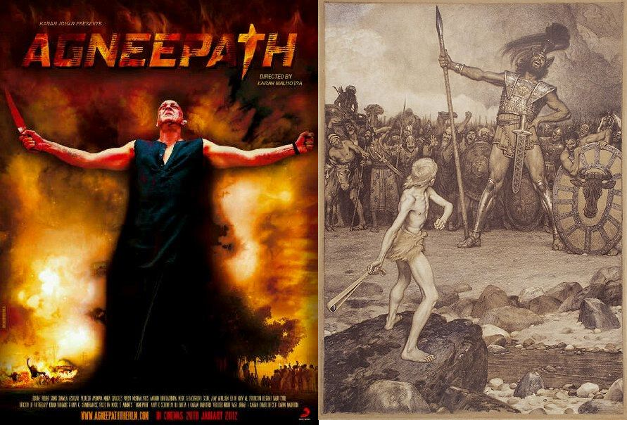 Agneepath and references from The Bible: Goliath Vs David