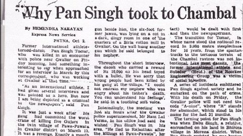 Exclusive: The Real Paan Singh Tomar Interview