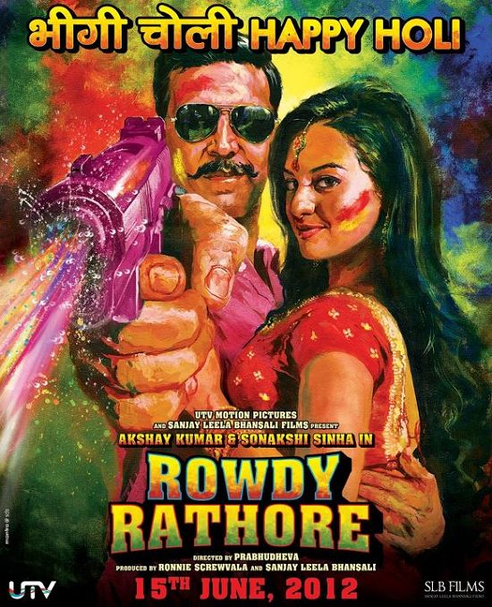 Rowdy Rathore Holi Poster Updated