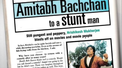 Blast from the Past – Hrishikesh Mukherjee Interview: They reduced Amitabh Bachchan to a stunt man.
