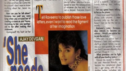 Blast from the Past: She needs a Shrink – Ajay Devgn on Raveena Tandon