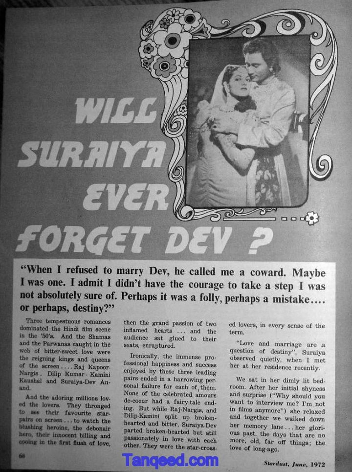 Blast from the Past: Suraiya's Interview about Dev Anand