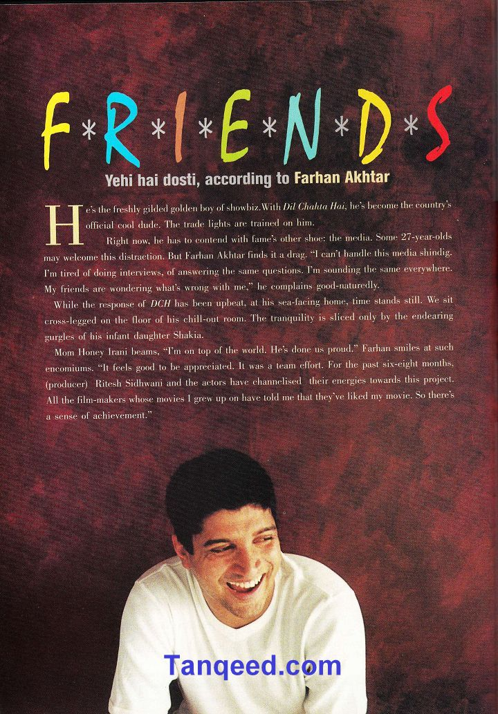Farhan Akhtar's Filmfare Interview after Dil Chahta Hai