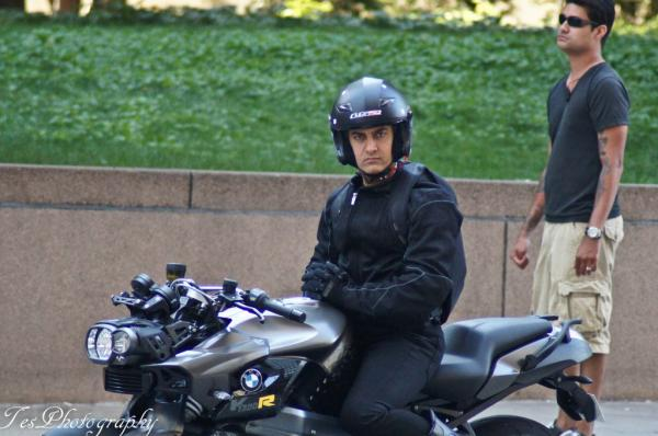 Aamir Khan Pictures from sets of Dhoom 3