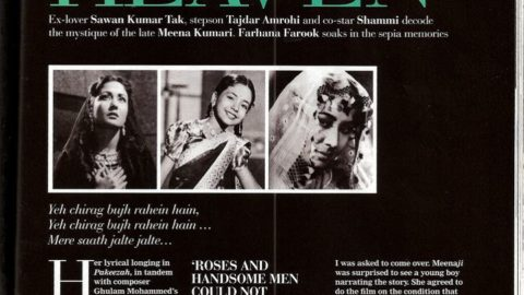 Filmfare Article on Memories of Meena Kumari