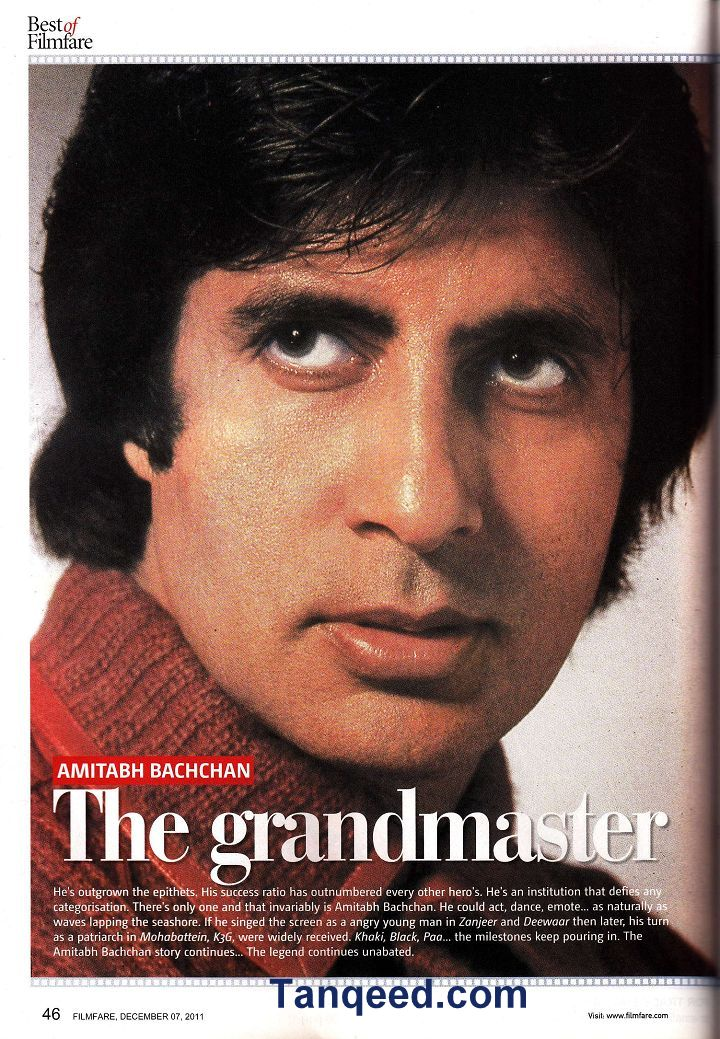 Filmfare Article on Amitabh Bachchan from 2011