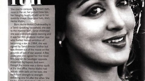 Hema Malini: Dream Run – Filmfare Article