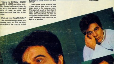 Blast from the Past: Dilip Kumar Filmfare Interview from 1982