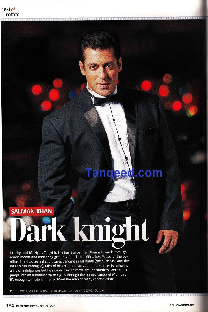 Salman Khan - Dark Knight - Filmfare Article