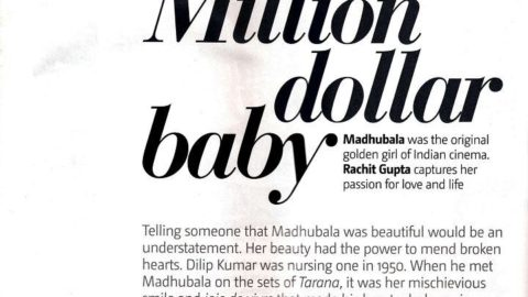 Madhubala – Million Dollar Baby – Filmfare Article