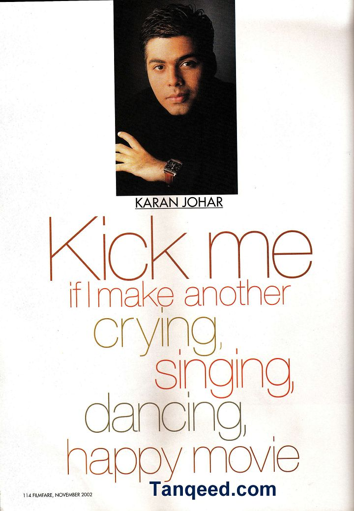 Blast from the Past: Karan Johar Filmfare Interview from 2002