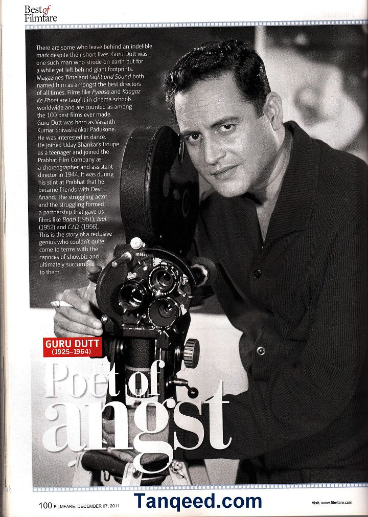 Poet of Angst - Filmfare Article on Guru Dutt