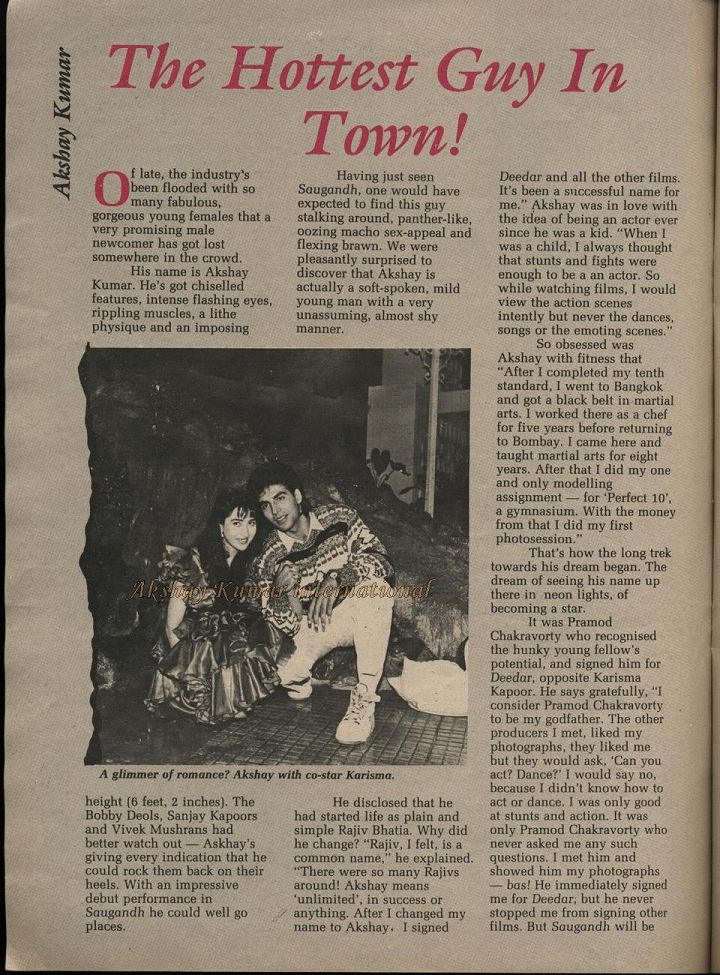Blast from the Past: Akshay Kumar's Showtime Interview from 1991
