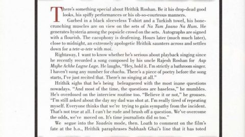 Blast from the Past: Hrithik Roshan's Filmfare Interview after Yaadein