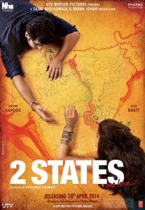 Sanket's Review: 2 States is reasonably watchable.