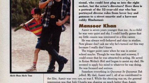 Filmfare Interview with Directors on Aamir Khan from 1997