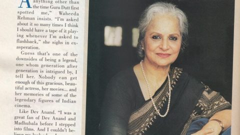 Waheeda Rehman's Recollections from the Past