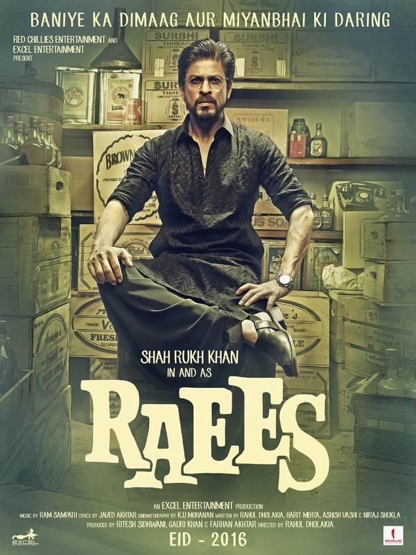 Raees First Look Posters starring Shah Rukh Khan