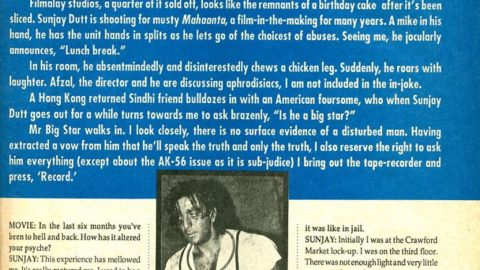 Sanjay Dutt Interview from 1993 after his first release from Jail
