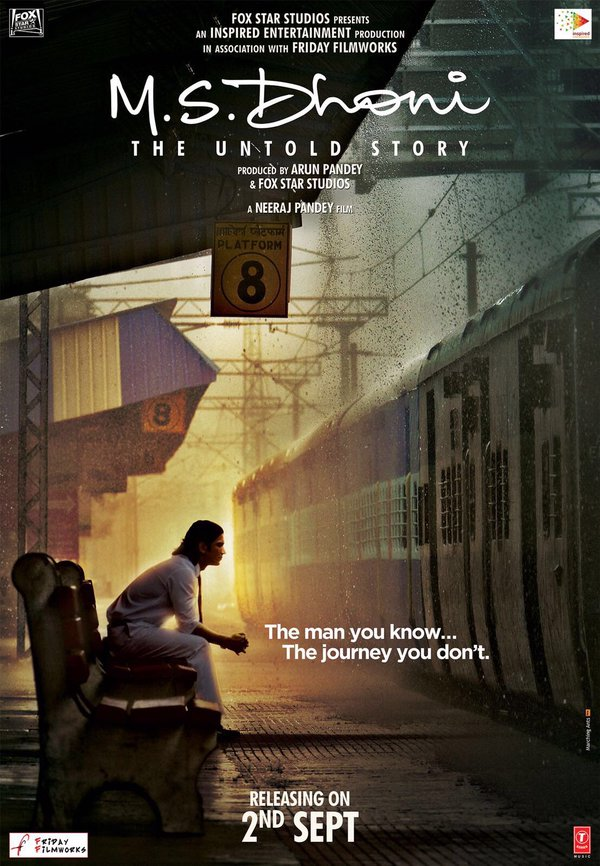 M.S. Dhoni - The Untold Story Official Poster starring Sushant Singh Rajput