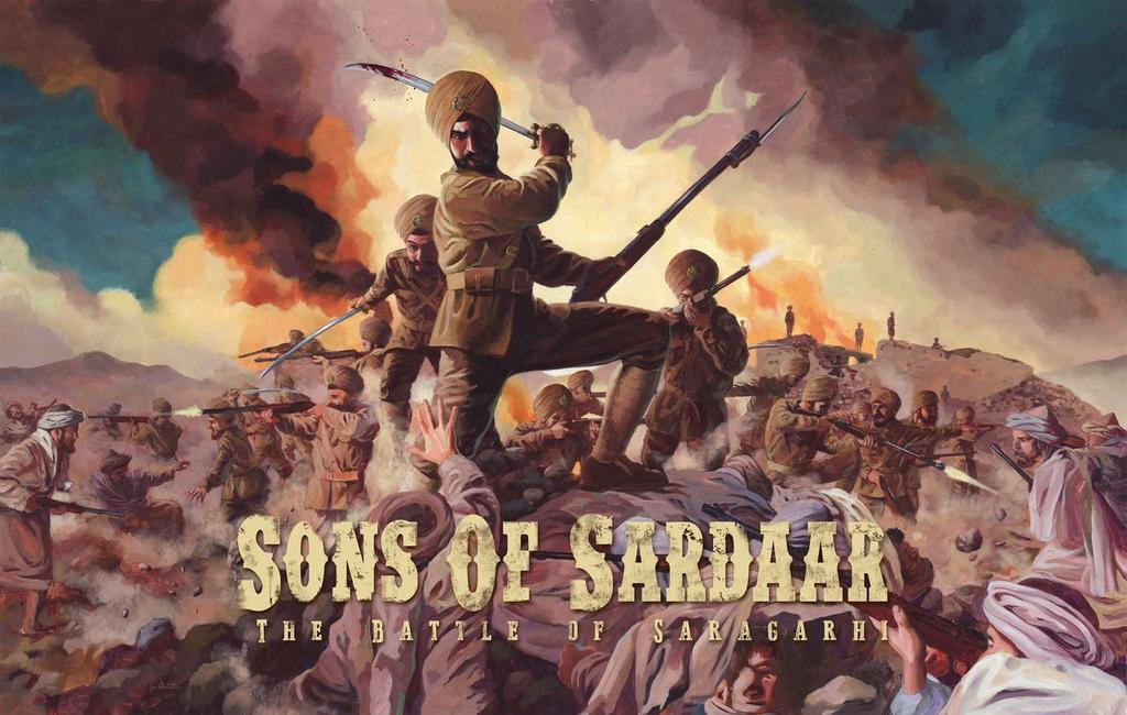 First Look Poster of Sons of Sardaar: The Battle of Saragarhi