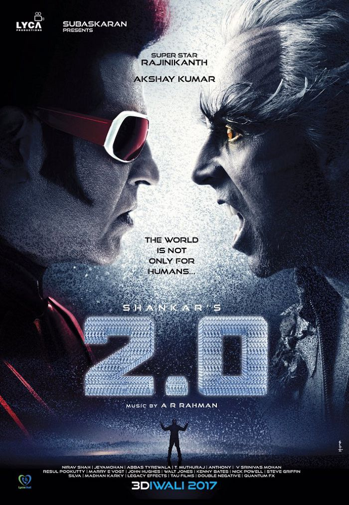 Robot 2.0 First Look Posters starring Rajinikanth and Akshay Kumar