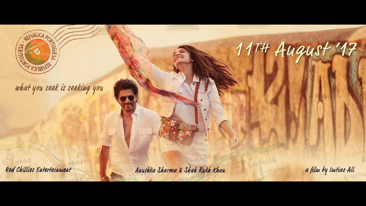 First Look Poster of Imtiaz Ali's untitled movie starring Shah Rukh Khan, Anushka Sharma