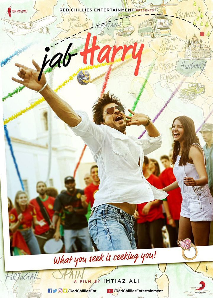 First Look Poster of Jab Harry Met Sejal starring Shah Rukh Khan, Anushka Sharma