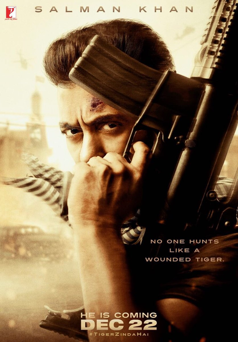 Tiger Zinda Hai First Look Poster starring Salman Khan