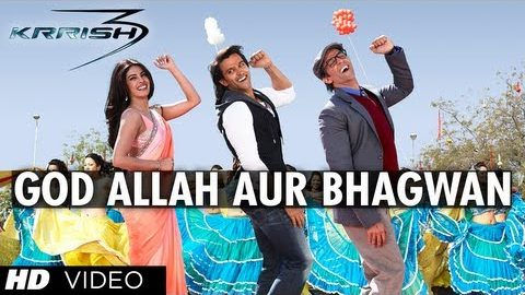 God Allah Aur Bhagwan Song – Krrish 3