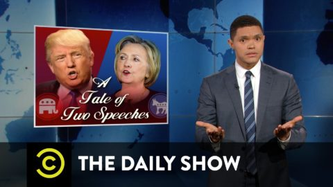 Hillary Clinton and Donald Trump react to the Orlando Shooting – The Daily Show with Trevor Noah