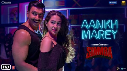 Aankh Marey Song from Simmba ft Ranveer Singh, Sara Ali Khan