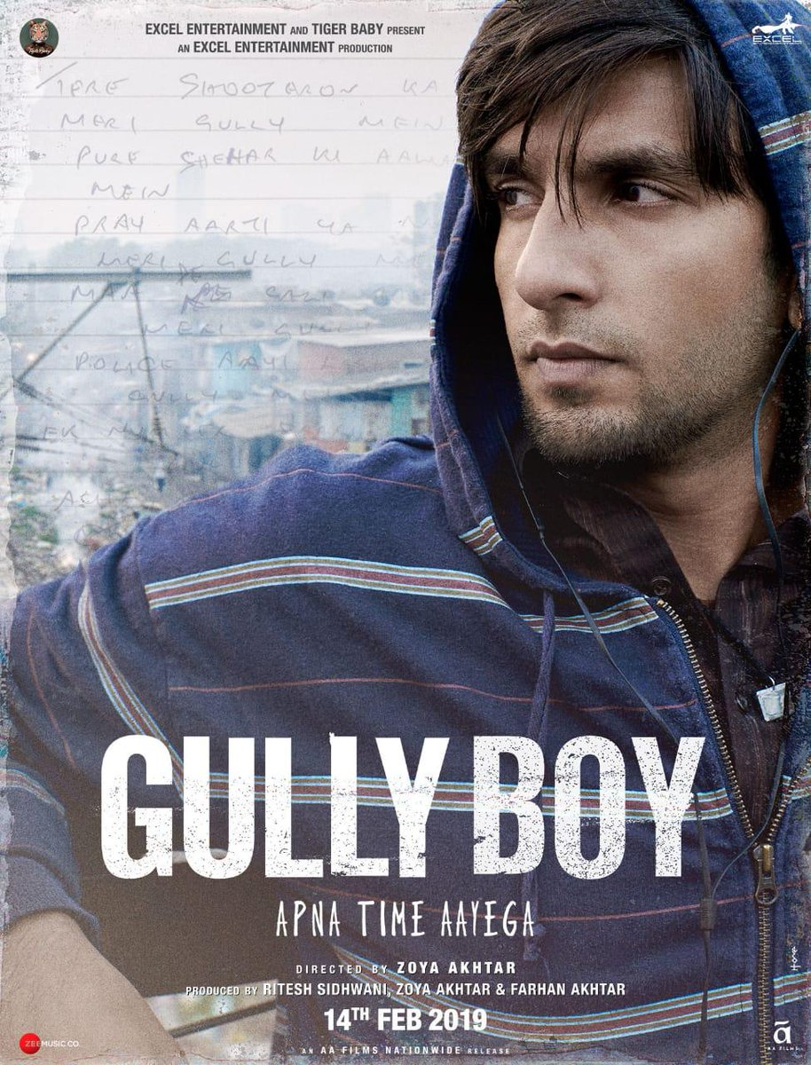 Gully Boy First Look Poster starring Ranveer Singh